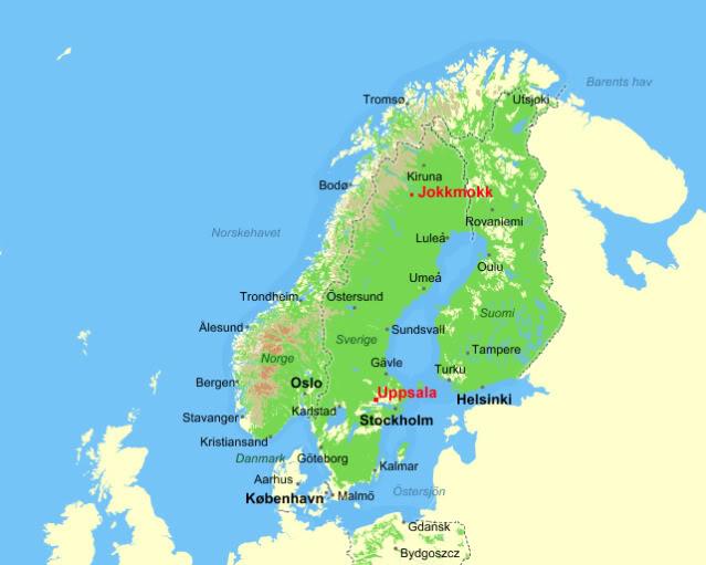 Jokkmokk An Outdoor Market In Arctic Sweden In February The - Sweden lapland map