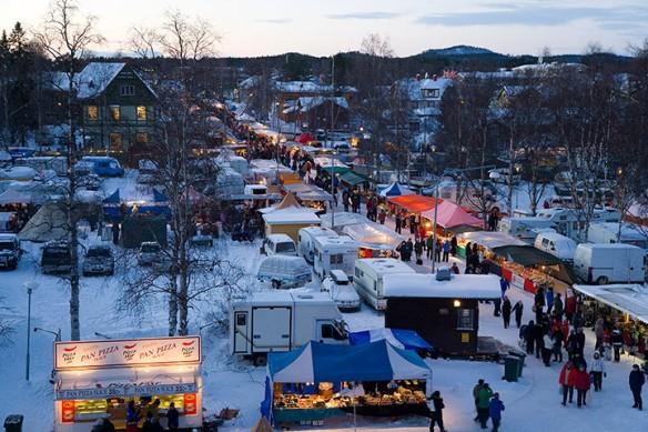 Winter fair, Jokkmokk, Norrbotten, Sweden