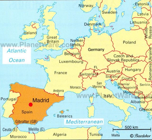 Madrid Location Map The Joli Pantry